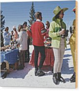 Snowmass Gathering Wood Print