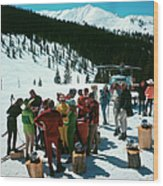 Snowmass Picnic Wood Print