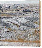 Snowy Dakota Wood Print