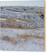 Snowy Slope County Territory Wood Print