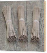 Soba Noodle Wood Print