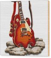 Soft Guitar - 3 Wood Print