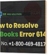 Solution Quickbooks Web Connector Error 6147,0 Wood Print