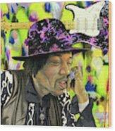 Sonic Exploration - A Jimi Hendrix Portrait Wood Print