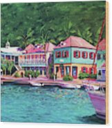 Soper's Hole Tortola  16x23 Wood Print