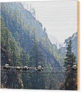 Sopkios In The Solo Khumbu Valley Wood Print