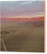 Sossusvlei Namibia Sunset Ridge Wood Print