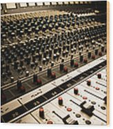 Sound Board In Color Wood Print