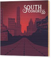 South Congress Avenue Wood Print
