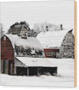 South Dakota Farm Wood Print