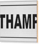Southampton City Nameplate Wood Print