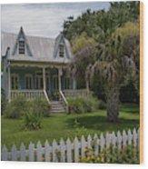 Southern Coastal Tin Roof Cottage Wood Print