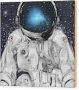 Space Adventurer  Wood Print
