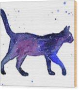 Space Cat Wood Print