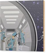 Space Mission Concept Vector Wood Print