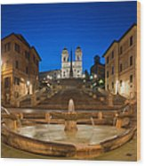 Spanish Steps Piazza Di Spagna Fontana Wood Print