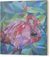 Sparkling Flamingo Wood Print