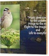 Sparrows Music Wood Print