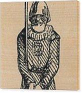 Spear Man Wood Print