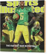 Speed Wins Oregons Deanthony Thomas, The Fastest Man In Sports Illustrated Cover Wood Print