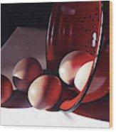 Spill of Eggs Wood Print
