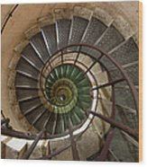 Spiral Staircase In The Arc De Wood Print
