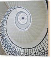 Spiral Staircase, The Queens House Wood Print