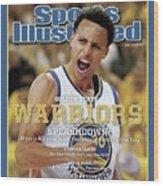 Splashdown Golden State Warriors 2015 Nba Champions Sports Illustrated Cover Wood Print