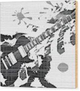 Splatter Guitar Wood Print