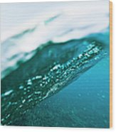 Split Level View Of A Passing Wave Wood Print