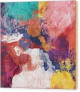 Spring Crush 3- Abstract Art By Linda Woods Wood Print
