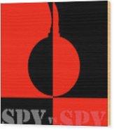 Spy Vs Spy Wood Print