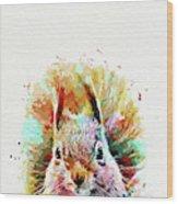 Squirrel Painting Wood Print