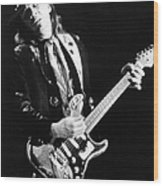 Srv Performing In Davis Wood Print