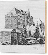 St Charles Hall Carroll College Helena Montana Wood Print