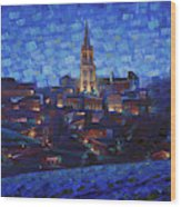 St. Emilion art at night Wood Print