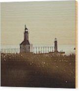 St. Joseph Lighthouse - Digital Pencil Wood Print