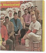 St. Louis Cardinals, 1968 World Series Champions Sports Illustrated Cover Wood Print