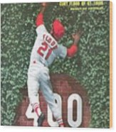 St. Louis Cardinals Curt Flood Sports Illustrated Cover Wood Print