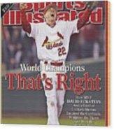 St. Louis Cardinals David Eckstein, 2006 World Series Sports Illustrated Cover Wood Print