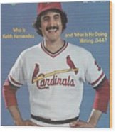 St. Louis Cardinals Keith Hernandez Sports Illustrated Cover Wood Print