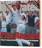 St. Louis Cardinals Mark Mcgwire... Sports Illustrated Cover Wood Print