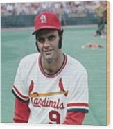 St. Louis Cardinals Player Joe Torre Wood Print