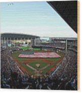 St Louis Cardinals V Miami Marlins Wood Print