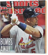 St Louis Cardinals V Milwaukee Brewers - Game 6 Sports Illustrated Cover Wood Print