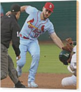 St Louis Cardinals  V Oakland Athletics Wood Print