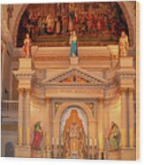 St. Louis Cathedral Altar New Orleans Wood Print
