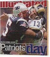 St. Louis Rams Qb Kurt Warner, Super Bowl Xxxvi Sports Illustrated Cover Wood Print