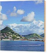 St. Maarten Panorama Wood Print