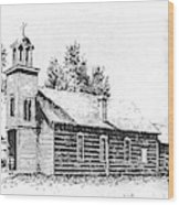 St. Mary's Mission, Stevensville, Montana Wood Print